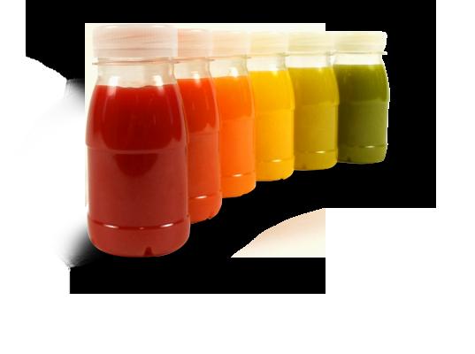 Juice bottles row